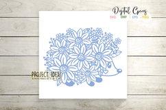 Hedgehog paper cut design SVG / DXF / EPS / PNG files Product Image 5