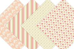 Gold Floral Digital Patterns - Digital Scrapbook Paper Product Image 2