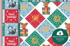 Christmas Dog Digital Papers Product Image 3