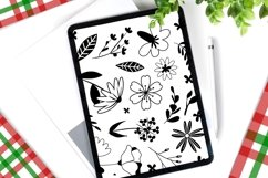 Procreate Brush stamp, Floral Stamps Brushes Product Image 2