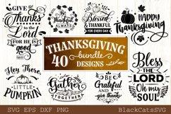 Thanksgiving SVG bundle 40 designs Fall and pumpkins SVG bun Product Image 5