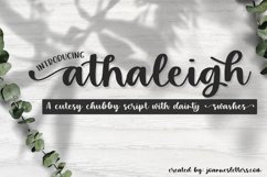 Athaleigh Script| A cutesy chubby script with dainty swashes Product Image 1