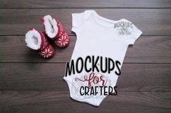 White one-piece baby bodysuit, onesie MOCK-UP Product Image 1