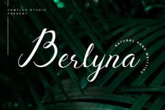 Berlyna - Modern Script Font Product Image 1