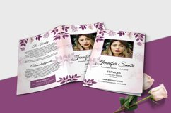 Floral Funeral Program MS Word & Photoshop Template Product Image 2