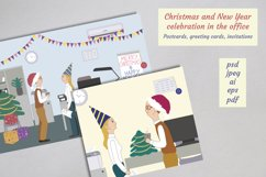 Christmas and New Year celebration in the office cards Product Image 1