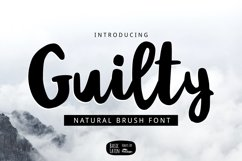 Guilty Font Product Image 1