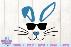 easter svg, bunny svg, easter bunny svg, bunny sunglasses Product Image 3