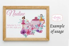 Watercolor fairy clipart for invitations, magical clipart Product Image 3