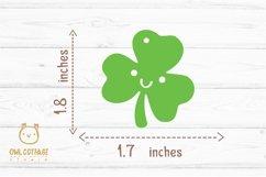 St.Patricks Day Clover Earrings SVG, Shamrock Earrings svg Product Image 4