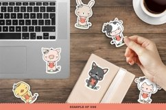 Farm Animals Characters Printable Stickers Cricut Design Product Image 3