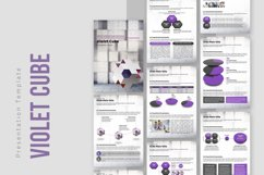 Violet Cube PPT Template Vertical Product Image 1