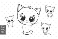 Cute kitten clipart, SVG, PNG, EPS Product Image 1