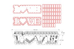 LOVE BOX - laser cut file Product Image 3
