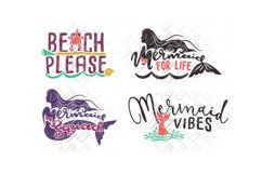 Mermaid SVG Bundle Quotes Sayings Monogram in SVG/DXF/PNG/JP Product Image 5