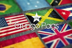 236 Grunge Flags Product Image 1