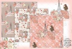 Paris je t'aime digital paper pack Product Image 2
