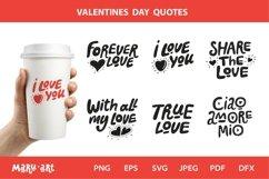 Valentine Quotes Bundle Svg. Valentines vector, png, jpeg Product Image 1