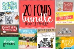 Bundle of 20 Craft Friendly Fonts! Product Image 1