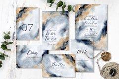 Elegant Grey Gold Abstract Background Wedding Invitation Set Product Image 1