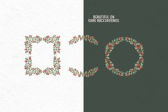 Hand-drawn Christmas clipart| Christmas wreath clipart Product Image 3