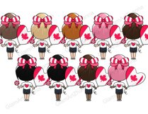 Canada Day CUTE DOLLS Independence Day Patriotic Girl - PNG Product Image 3