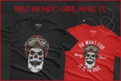 Biker Skull SVG, Christmas SVG, Retro Biker T-Shirt Design Product Image 4