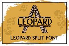 Leopard Split Font - A Monogram Font Product Image 1