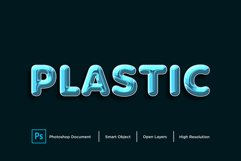 Plastic Text Effect Design Photoshop Layer Style Effect Product Image 1