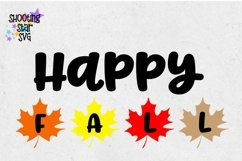 Happy Fall with Leaves SVG - Autumn SVG - Fall SVG Product Image 3