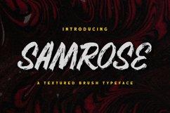 Samrose - Textured Brush Typeface Product Image 1
