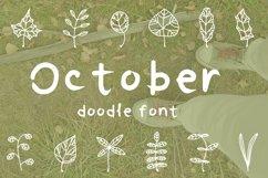 October leaves doodle font Product Image 1