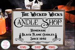 The Wicked Wicks Candle Shop SVG, Halloween SVG, Sign SVG Product Image 2