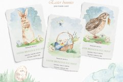 Easter bunnies watercolor Product Image 8