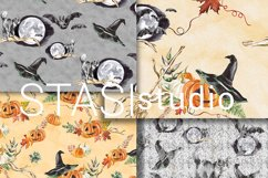 Halloween Watercolor Handpainted Paper, Seamless Patterns Product Image 4