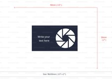 Photographer business card template cutting file Product Image 3