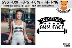 Resting Gym Face Funny Fitness SVG Product Image 1