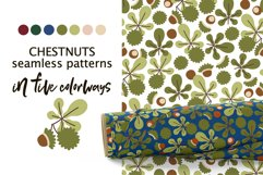 CHESTNUTS vector seamless patterns Product Image 1