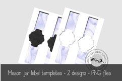 Digital Mason Jar label templates Product Image 1