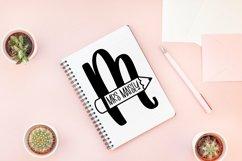 Web Font Teacher Pencil Monogram Split Font Product Image 2