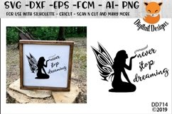 Never Stop Dreaming Fairy SVG Product Image 1