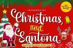 Christmas and Santona | A Beautiful Chirstmas Script Font Product Image 1