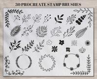 Set of 30 Botanical Stamp Brushes for Procreate Product Image 2