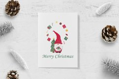 Watercolor christmas gnomes clipart, Christmas card design Product Image 3