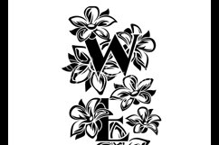 Welcome porch sign stencil svg, spring flowers vertical Product Image 3