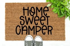 Web Font Beach Camping - A Quirky Handlettered Font Product Image 4