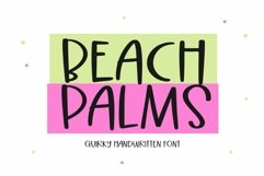Web Font Beach Palms - Quirky Handwritten Font Product Image 1