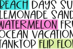 Web Font Beach Palms - Quirky Handwritten Font Product Image 4