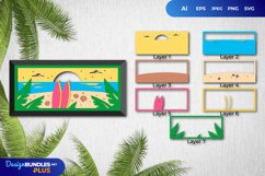 3D Papercut Beach Layered Template Product Image 1