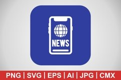Vector News Icon Product Image 1